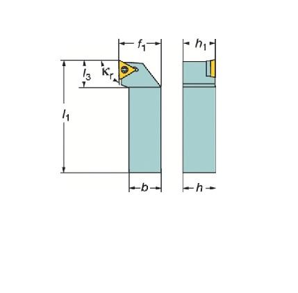 サンドビック(株)コロマントカンパニー SANDVIK サンドビック コロターン107 ポジチップ用シャンクバイト [ STGCR2525M16 ]
