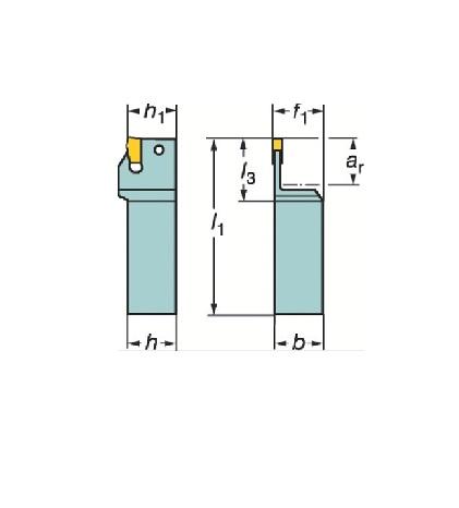 サンドビック(株)コロマントカンパニー SANDVIK サンドビック T-Max Q-カット 突切り・溝入れ用シャンクバイト [ R151.21252540A ]