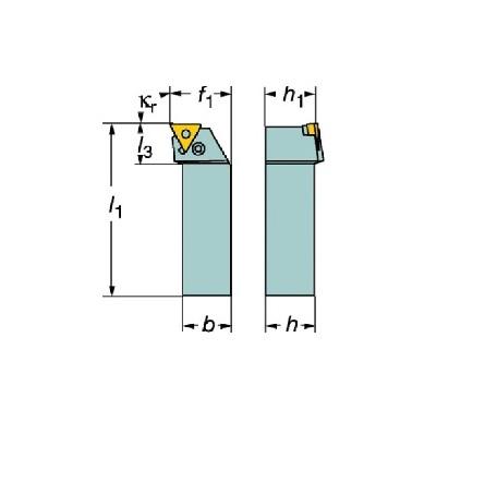 サンドビック(株)コロマントカンパニー SANDVIK サンドビック T-Max P ネガチップ用ボーリングバイト [ S32UPTFNR16W ]