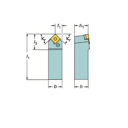 サンドビック(株)コロマントカンパニー SANDVIK サンドビック T-Max P ネガチップ用シャンクバイト [ PSDNN3225P12 ]