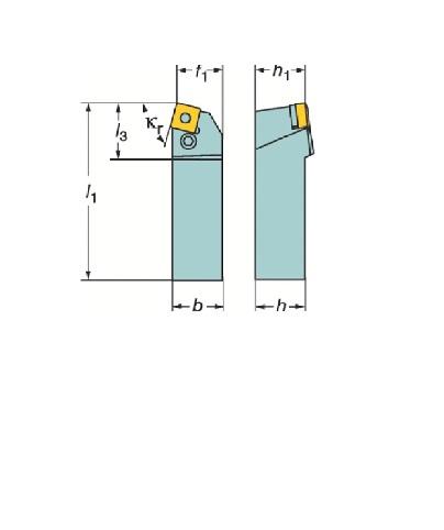 サンドビック(株)コロマントカンパニー SANDVIK サンドビック T-Max P ネガチップ用シャンクバイト [ PSBNL2525M15 ]