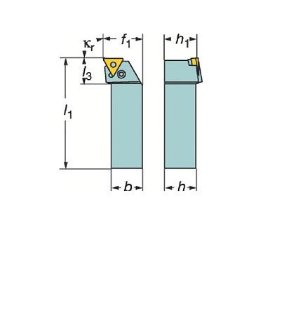 サンドビック(株)コロマントカンパニー SANDVIK サンドビック T-Max P ネガチップ用シャンクバイト [ PTFNL2525M16 ]