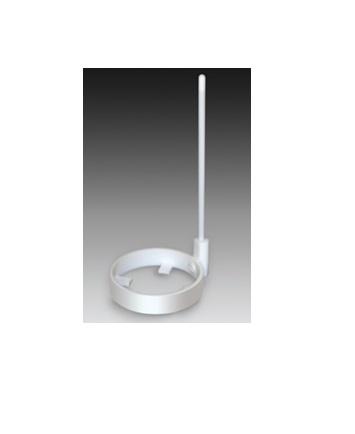 (株)フロンケミカル フロンケミカル フッ素樹脂(PTFE)ウェハーディッパー柄付 120φ [ NR1674003 ]