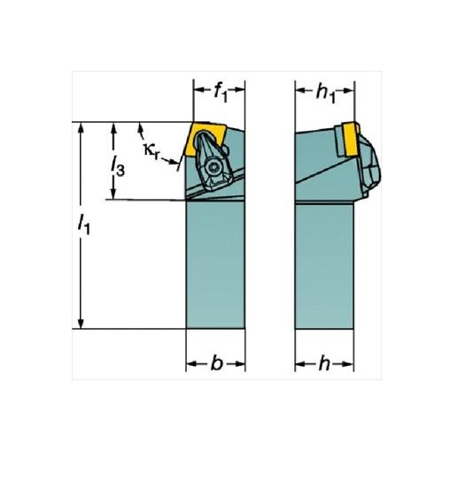 サンドビック(株)コロマントカンパニー SANDVIK サンドビック コロターンRC ネガチップ用シャンクバイト [ DCBNL2525M12 ]