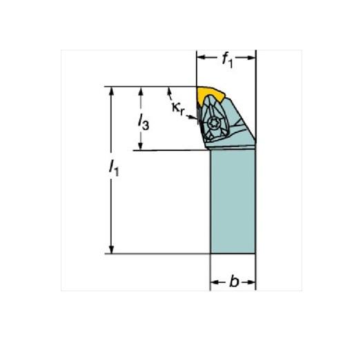 サンドビック(株)コロマントカンパニー SANDVIK サンドビック コロターンRC ネガチップ用シャンクバイト [ DWLNL1616H06 ]