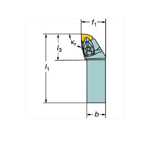 サンドビック(株)コロマントカンパニー SANDVIK サンドビック コロターンRC ネガチップ用シャンクバイト [ DWLNR2525M06 ]