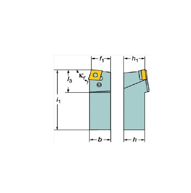 サンドビック(株)コロマントカンパニー SANDVIK サンドビック T-Max P ネガチップ用シャンクバイト [ PCBNR3232P16 ]