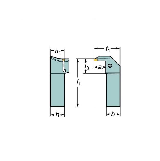 サンドビック(株)コロマントカンパニー SANDVIK サンドビック コロカット1・2 突切り・溝入れ用シャンクバイト [ RG123K082525CM ]