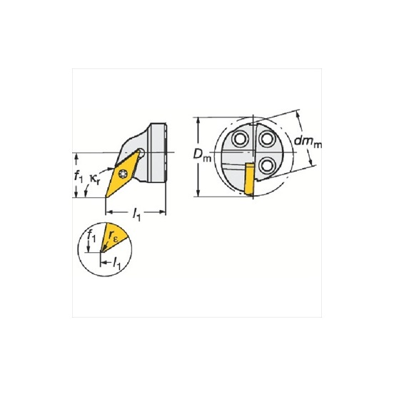 サンドビック(株)コロマントカンパニー SANDVIK サンドビック コロターンSL コロターン107用カッティングヘッド [ 570SVQCR2511D ]