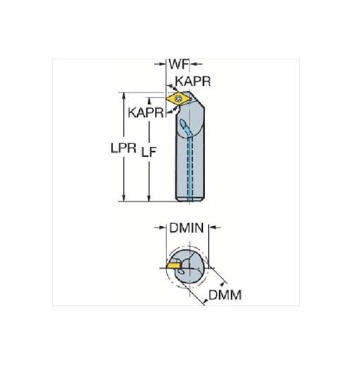 サンドビック(株)コロマントカンパニー SANDVIK サンドビック コロターン111 ポジチップ用ボーリングバイト [ A16RSDXPR07E ]