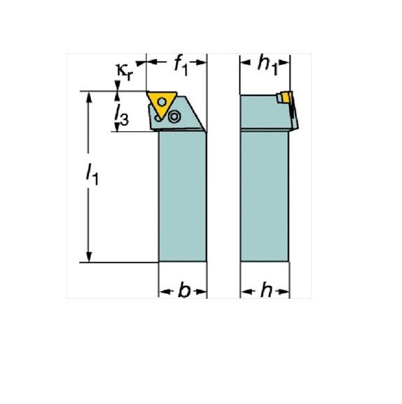 サンドビック(株)コロマントカンパニー SANDVIK サンドビック T-Max P ネガチップ用ボーリングバイト [ S40VPTFNR22W ]