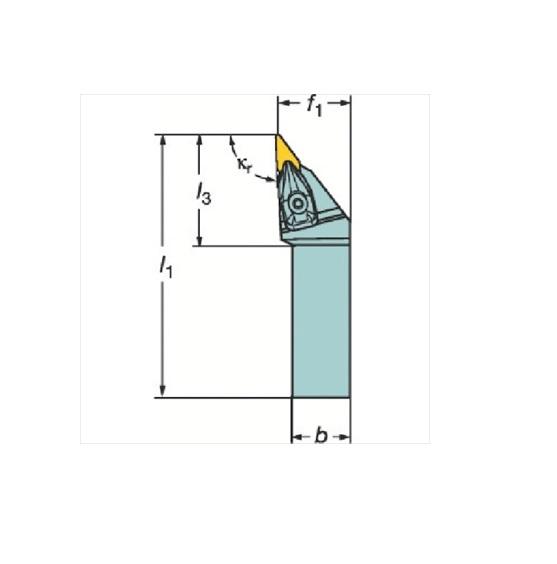 サンドビック(株)コロマントカンパニー SANDVIK サンドビック コロターンRC ネガチップ用シャンクバイト [ DVJNL2020K16 ]