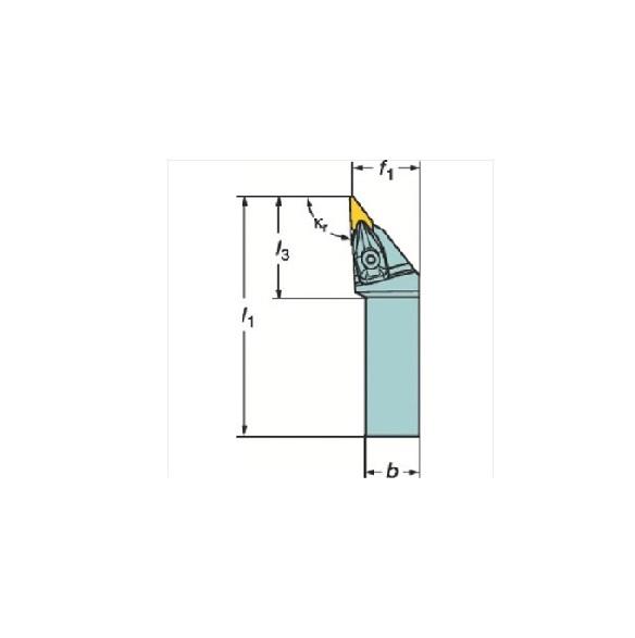 サンドビック(株)コロマントカンパニー SANDVIK サンドビック コロターンRC ネガチップ用シャンクバイト [ DVJNR3232P16 ]