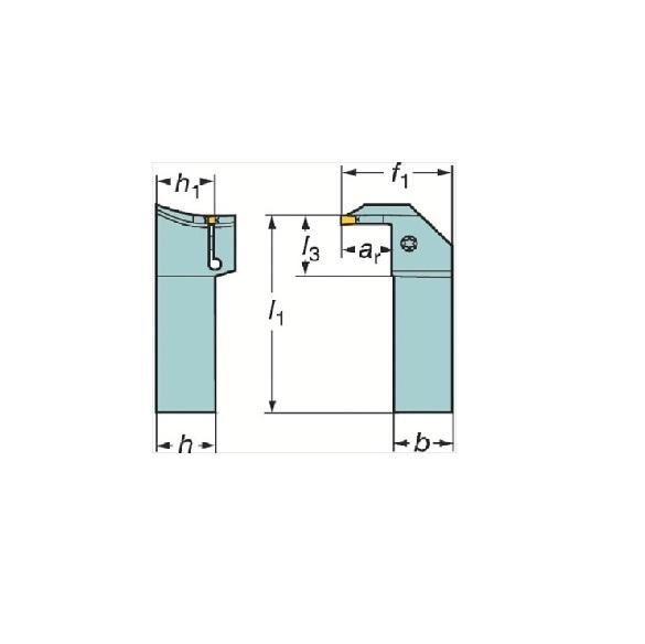 サンドビック(株)コロマントカンパニー SANDVIK サンドビック コロカット1・2 突切り・溝入れ用シャンクバイト [ LG123H202525B064BM ]