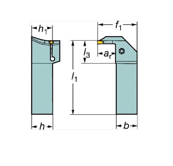 サンドビック(株)コロマントカンパニー SANDVIK サンドビック コロカット1・2 突切り・溝入れ用シャンクバイト [ RG123H202525B092BM ]