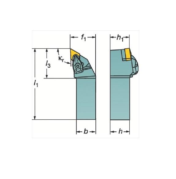 サンドビック(株)コロマントカンパニー SANDVIK サンドビック コロターンRC ネガチップ用シャンクバイト [ DDJNL2525M15 ]