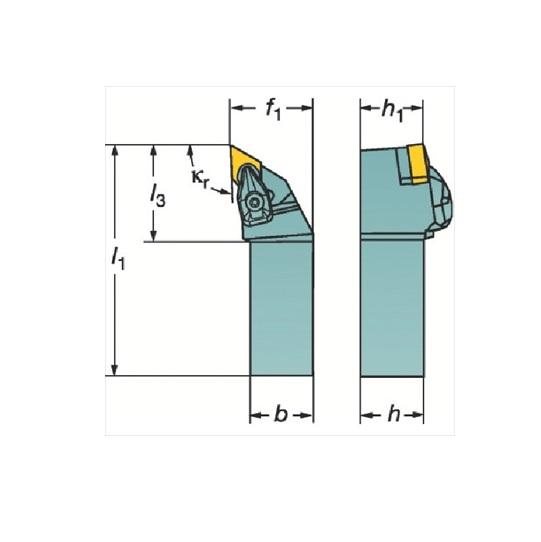 サンドビック(株)コロマントカンパニー SANDVIK サンドビック コロターンRC ネガチップ用シャンクバイト [ DDJNR2525M15 ]