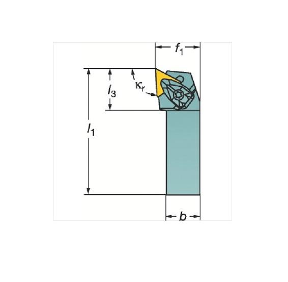 サンドビック(株)コロマントカンパニー SANDVIK サンドビック コロターンRC ネガチップ用シャンクバイト [ DTJNR2525M16 ]
