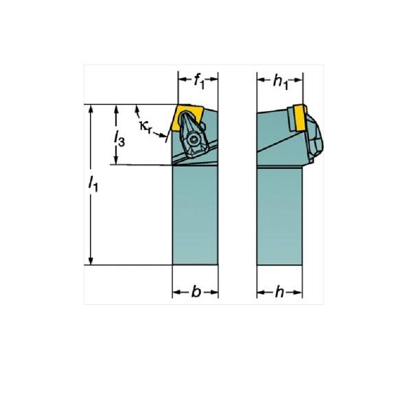サンドビック(株)コロマントカンパニー SANDVIK サンドビック コロターンRC ネガチップ用シャンクバイト [ DCBNR2020K12 ]