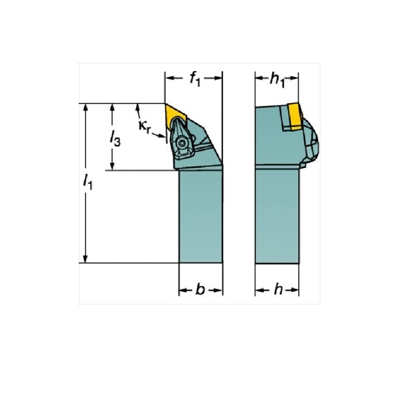 サンドビック(株)コロマントカンパニー SANDVIK サンドビック コロターンRC ネガチップ用シャンクバイト [ DDJNR2525M11 ]