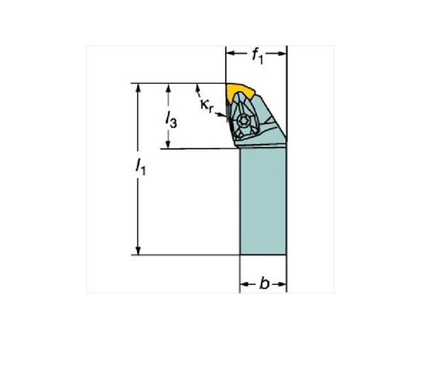 サンドビック(株)コロマントカンパニー SANDVIK サンドビック コロターンRC ネガチップ用シャンクバイト [ DWLNR3232P08 ]