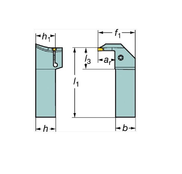 サンドビック(株)コロマントカンパニー SANDVIK サンドビック コロカット1・2 突切り・溝入れ用シャンクバイト [ RG123H202525B064BM ]