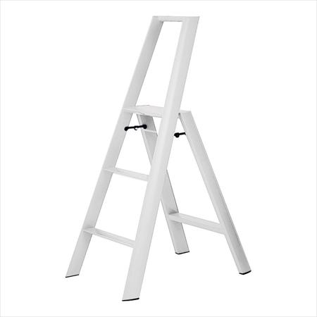 長谷川工業 ルカーノ ステップスツール ML2.0-3 ホワイト XST8410 [7-1304-0210]