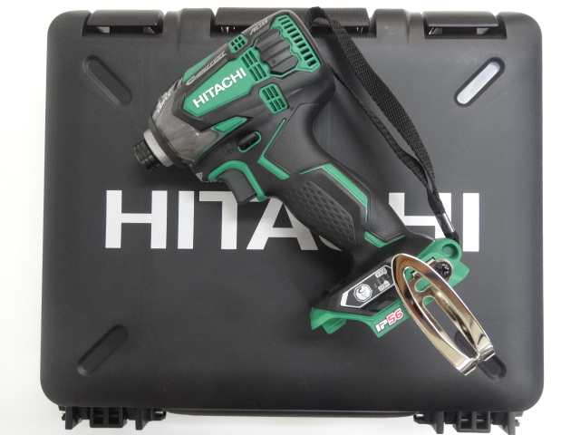 HiKOKI[日立工機] 14.4VインパクトドライバーWH14DDL2(L)【本体+ケース】アグレッシブグリーン【H03】