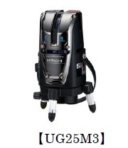 HiKOKI[ 日立工機 ]  レーザー墨出し器 UG25M3(J) 【受光器付】