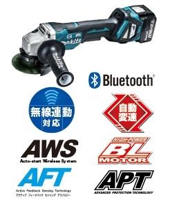 マキタ 14.4V(6.0Ah)100mm 充電式ディスクグラインダ GA416DRG【フルセット】 パドルスイッチ※ワイヤレススイッチ別売