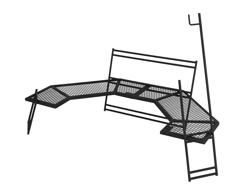 テキーラワンエイティ 焚き火の上で使用できるタフなスペックTB1-572-BK TB1572BK180°コックピット型テーブルDODドッペルギャンガーアウトドアDOPPELGANGER OUTDOOR