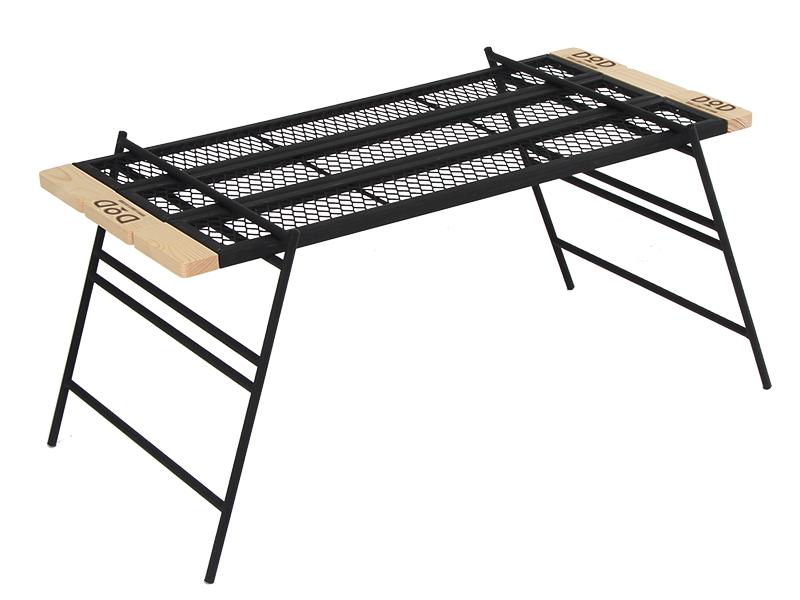 テキーラテーブル 焚き火の上でも使用できるタフな鉄製テーブルです。TB4-535 [TB4535]プレート3枚、レッグ(M)2枚入りドッペルギャンガーアウトドアDOPPELGANGER OUTDOOR DOD