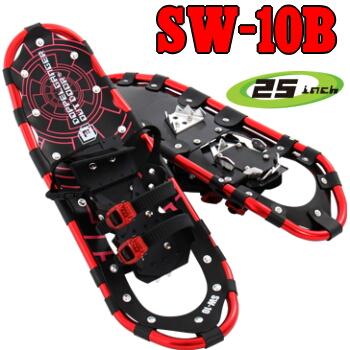 スノーシュー25inch SW-10B カラー:レッド/本体(ペア)1.89kg SNOWSHOE [SW10B]54.0~90.0kgまでドッペルギャンガーアウトドアDOPPELGANGER OUTDOOR