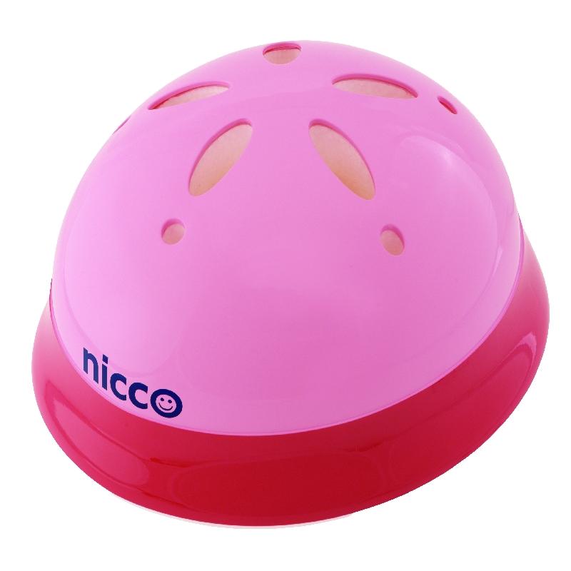 子供用自転車ヘルメット乳幼児用ヘルメット(頭周47~52cm)nicco(ニコ) ベビーヘルメットL Lサイズカラー:ピンク参考年齢12ヶ月~3歳位KH002LPKクミカ工業 日本製 kumika
