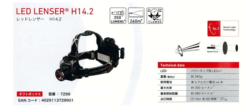 SLT 配備專業 LED 車燈 ! LED LENSER H14 (レッドレンザー) H14 人 210 流明 OPT 7499 聖日爾曼 fs3gm