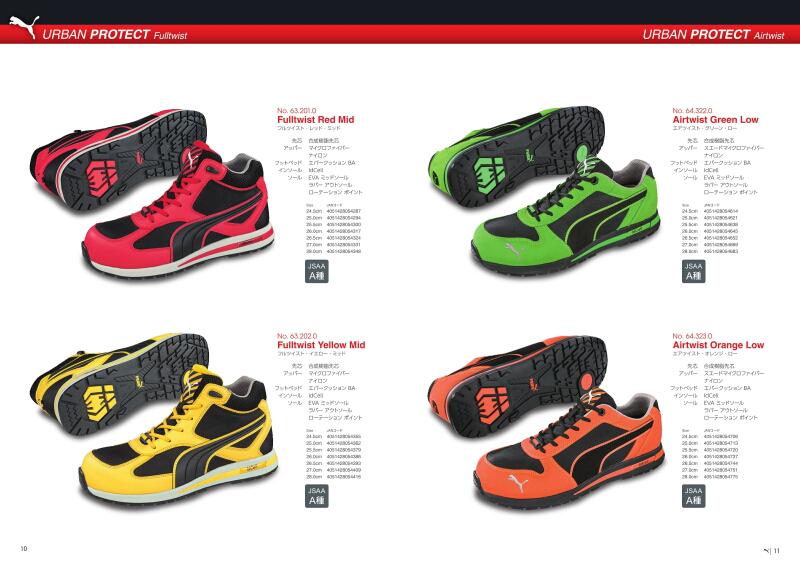 577e43afcdbaff 26.5cm Puma safety boots No. 64.323.0 643230 air twist orange low Airtwist  Orange Low Urban Protect puma safety Puma safety