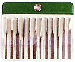 抜群の長寿命高強度 MTP-120 ダイヤモンド機械用テーパーヤスリ 12本組セットJPIダイヤモンド(株) [MTP120]