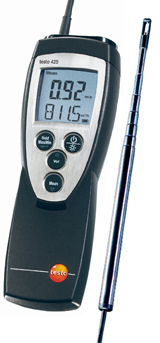 店舗 定番 風速 風量 温度の計測が可能な熱線式の風速 風量計です 最長820mmまで伸びる伸縮ロッド付き コンパクトクラス 熱線式風速計 testo425