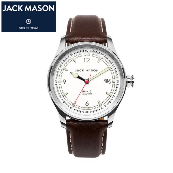 【JACK MASON(ジャックメイソン)】AVIATION スーパールミノバ クロノグラフ 日本製クオーツ イタリアンレザーベルト 10気圧防水 カレンダー機能付き [JM-N101-004]