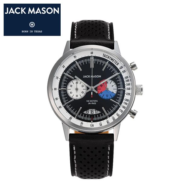 【JACK MASON(ジャックメイソン)】RACING(レーシング) スーパールミノバ クロノグラフ 日本製クオーツ イタリアンレザーベルト 10気圧防水 タキメーター、カレンダー機能 [JM-R402-003]