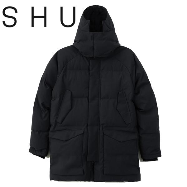 30% OFF SALE セール【SHU(シュウ)】WARM JACKET ウォームジャケット ダウンジャケット 中綿 BLACK ブラック