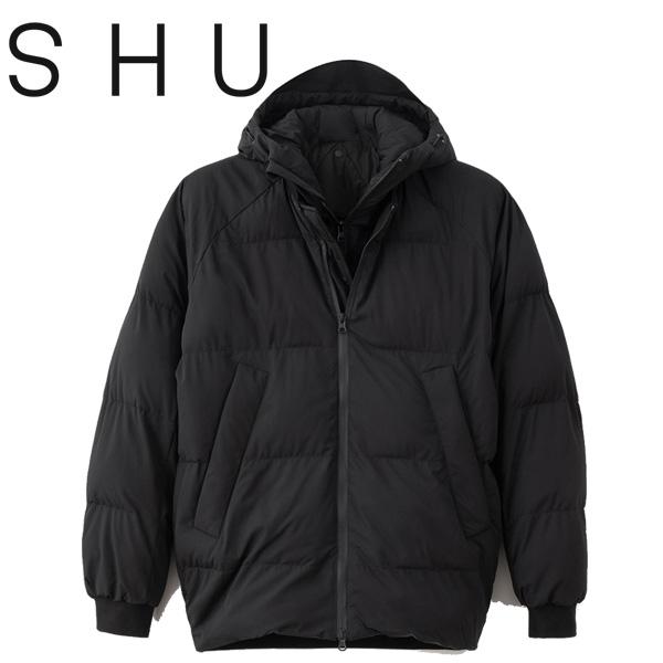 30% OFF SALE セール【SHU(シュウ)】 BOMBER DOWN JACKET ボンバー ダウンジャケット SHU1825 中綿 BLACK ブラック 黒