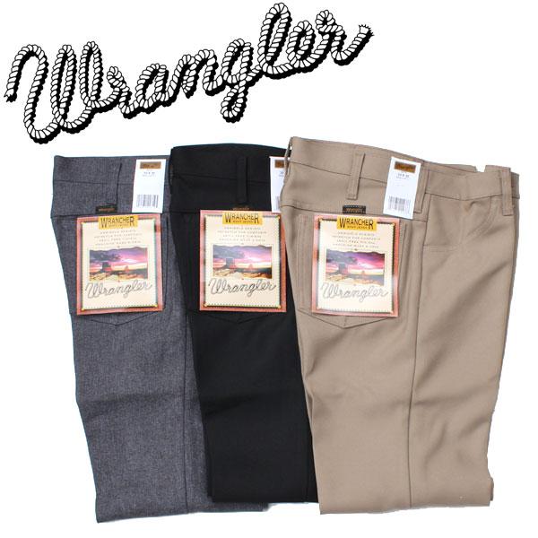 正規代理店商品 送料無料 Wrangler ラングラー WRANCHER DRESS ドレスジーンズ スラックス ポリパン センタープリーツ 初回限定 全店販売中 JEAN ランチャー