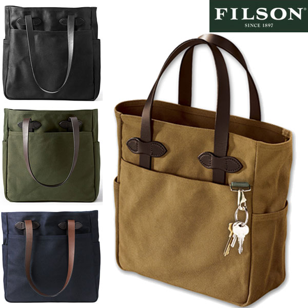 Filson 70260 Canvas Tote Bag Mens Shoulder Made In Usa United States Tan