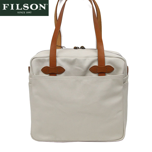 【FILSON】フィルソン #12028 ジッパートートバッグ アメリカ製 オフホワイト/TOTE with ZIPPER