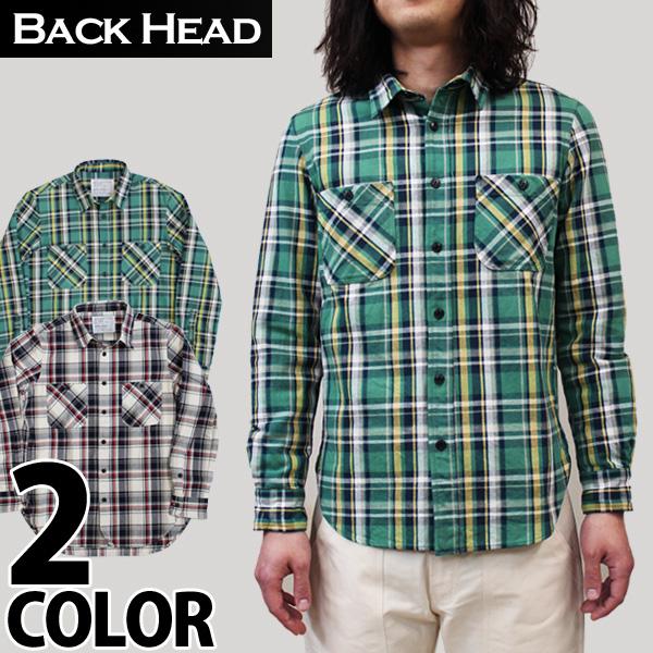 【BACKHEAD】(バックヘッド)CHECK NEL SHIRT チェック ネルシャツ アメカジ safari lounge サファリ ラウンジ 10P18Jun16