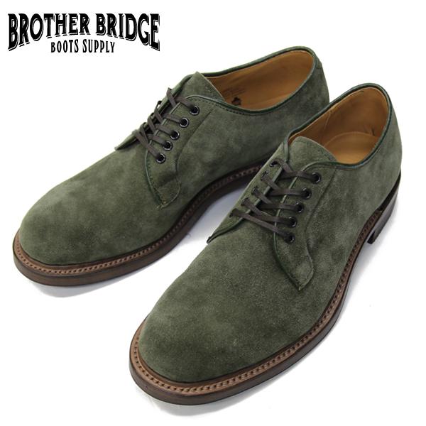 【BROTHER BRIDGE】(ブラザーブリッジ)ADISON #BBB-D001 SUEDE KAHKI スエードカーキ プレーントゥ メンズ ドレス ビジネスシューズ MADE IN JAPAN 日本製 10P18Jun16