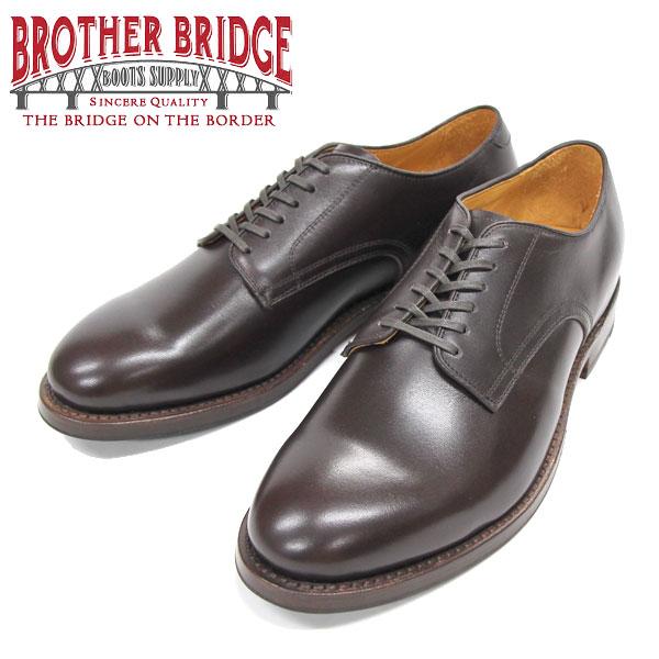 【BROTHER BRIDGE】(ブラザーブリッジ)DERBY PLAIN TOE SHOES #BBB-234001 BROWN DERBY PLAIN TOE SHOES ダービープレーントゥ シューズ オックスフォードシューズ