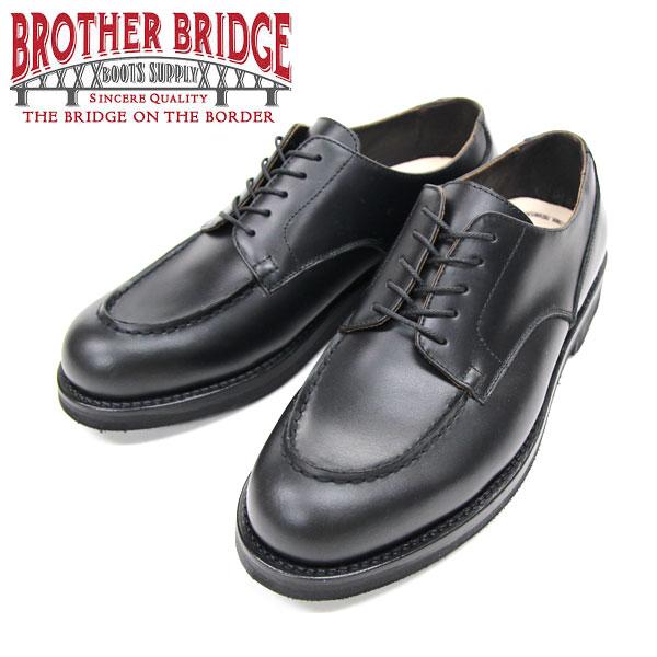 【BROTHER BRIDGE】(ブラザーブリッジ)TEVERRE #BBB-E005 BLACK Uチップサービスシューズ オックスフォード
