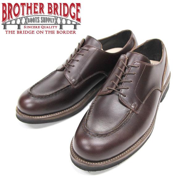 【BROTHER BRIDGE】(ブラザーブリッジ)TEVERRE #BBB-E005 BROWN Uチップサービスシューズ オックスフォード